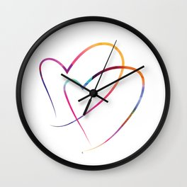 Two Hearts Wall Clock
