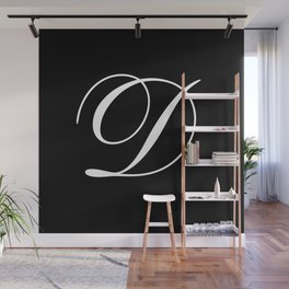 Elegant And Stylish Black And White Monogram D Wall Mural