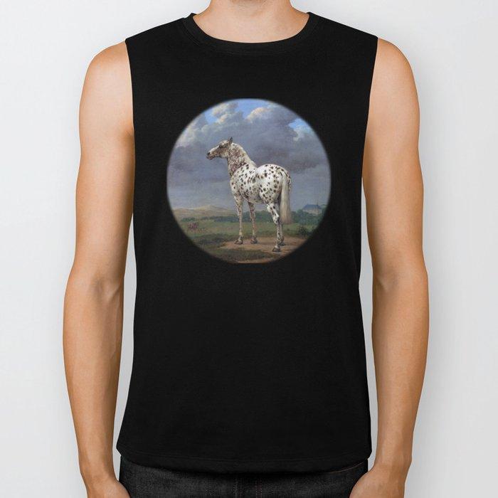 The horse blanc noir  Biker Tank