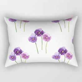 Three Little Violets Rectangular Pillow
