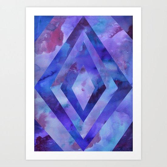 PATTERN {diamonds 002} Art Print