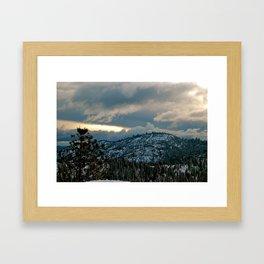 Peaking light Framed Art Print