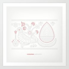 Hungarian Embroidery no.13 Art Print