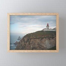 Cabo da Roca Lighthouse, Lisbon Framed Mini Art Print