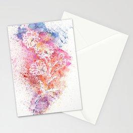Flowers Illustration Art Stationery Cards