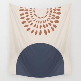 Abstract Icons & Shapes With the Sun Wall Tapestry