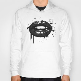 Black and white glamour fashion lips Hoody