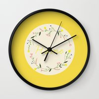 home sweet home Wall Clocks featuring Home by Babiole Design