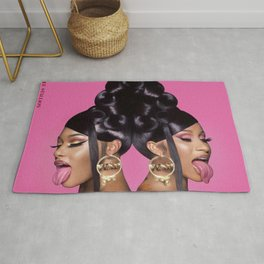 Cardi B Megan Thee Stallion Rug
