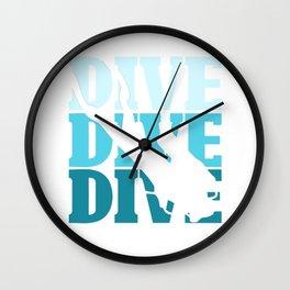 Dive divers Wall Clock