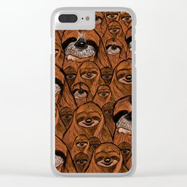 Mountains and mountains of sloths. Clear iPhone Case