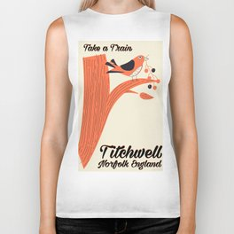 Titchwell Norfolk Beach travel poster Postcard Biker Tank