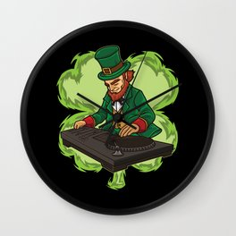 DJ Leprechaun Live On Stage - Irish Electro Music Wall Clock