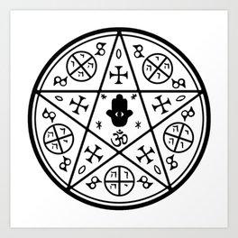 Anti-Demon sigil Art Print