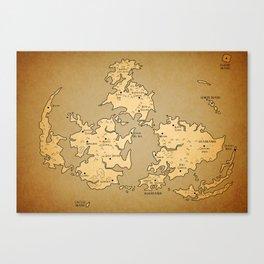 Gaia Midgar Final Fantasy VII Map Canvas Print