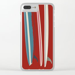 Rip Tide Surfboards Clear iPhone Case