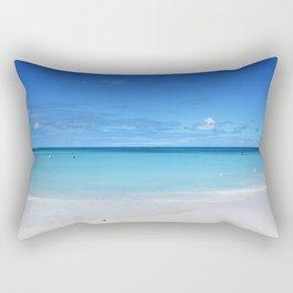 Caribbean Paradise Beach on Antigua Rectangular Pillow