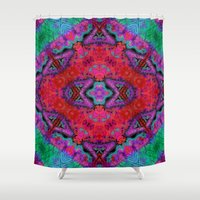 kilim Shower Curtains featuring Digital Kilim by Jellyfishtimes