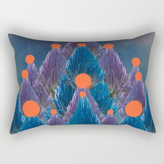 Floral abstract(49). Rectangular Pillow