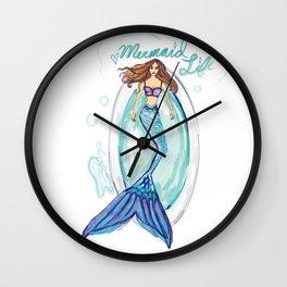 Mermaid in a Tub Wall Clock