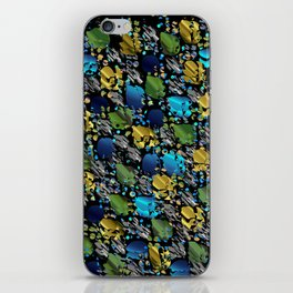 elegant modern pattern with dots circling shiny colored chick glittery iPhone Skin