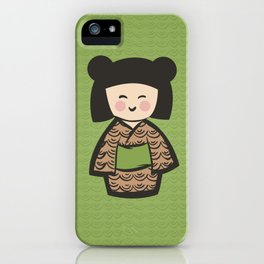 Geisha Dress Code (green) iPhone Case