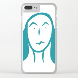 smirk. Clear iPhone Case