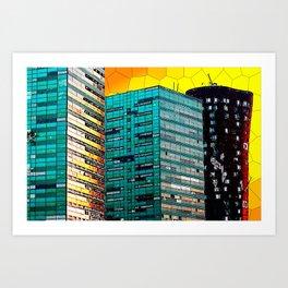 Gran Via Sunset Art Print
