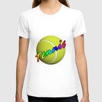 tennis T-shirts featuring Tennis by Jimbob1979