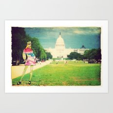 Out and About in D.C. Art Print