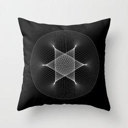 Earth : Moon - Black Throw Pillow