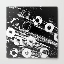 Distressed circles Metal Print