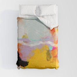 yellow blush abstract Comforters