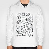 typo Hoodies featuring TYPO CHAOS by Michela Buttignol