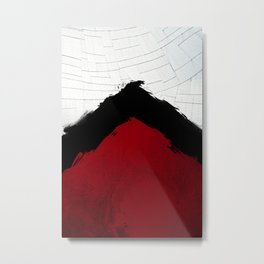 BLOOD RED RIBBON Metal Print