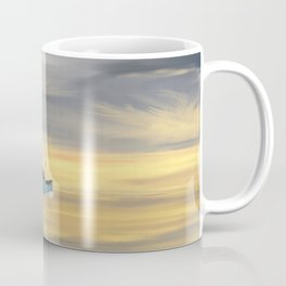 Steamship Freighter heading towards the ocean Coffee Mug