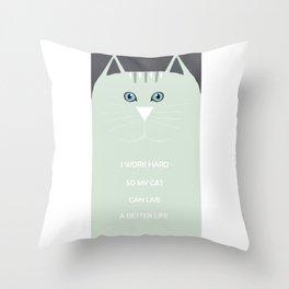 I <3 cats Throw Pillow