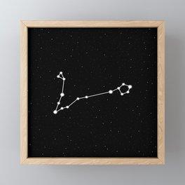 Pisces Star Sign Night Sky Framed Mini Art Print