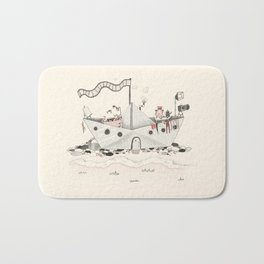Paper ship Bath Mat