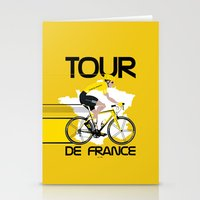 tour de france Stationery Cards featuring Tour De France by Wyatt Design