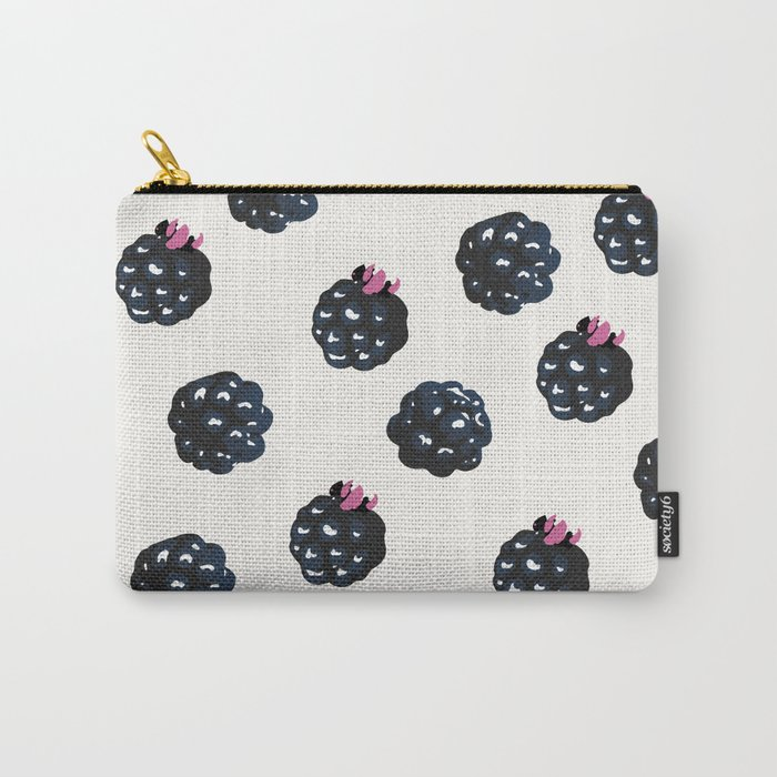 Blackberries pattern Carry-All Pouch