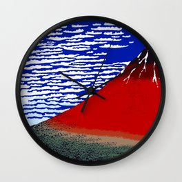 Colorful Fine Wind, Clear Morning Mount Fuji Japan Wall Clock