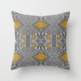 Tribal Wings Throw Pillow