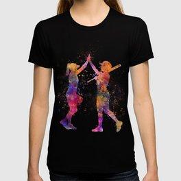 women playing softball 01 T-shirt