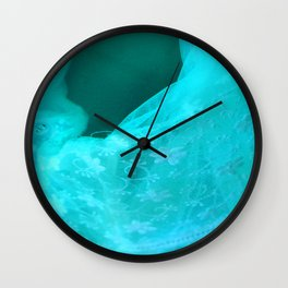 ghost in the swimming pool: aquagreen variations Wall Clock