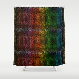 Colored Patchwork Shower Curtain