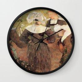 """Paul Gauguin - Four Breton Women """"La Danse des quatre Bretonnes"""" (1886) Wall Clock"""