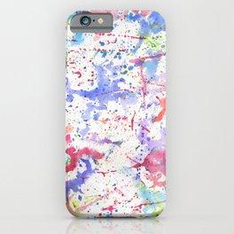Watercolor Splash Paint Splatter iPhone Case