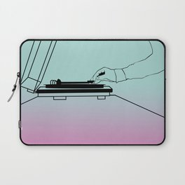 Vinyl on the Record Player Laptop Sleeve