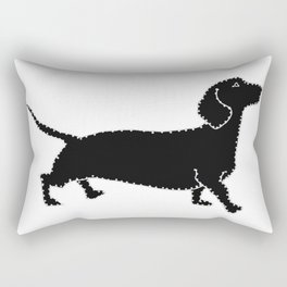 I have Connected the DACHSHUND Doggy Dots! Rectangular Pillow